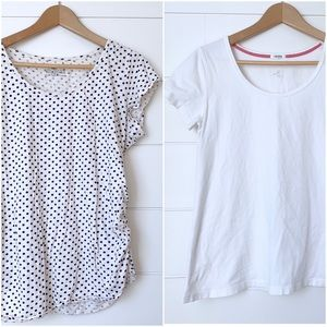 TWO HEARTS MATERNITY Bundle of two tees